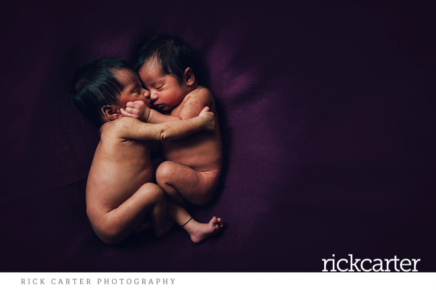 natural newborn twin photography